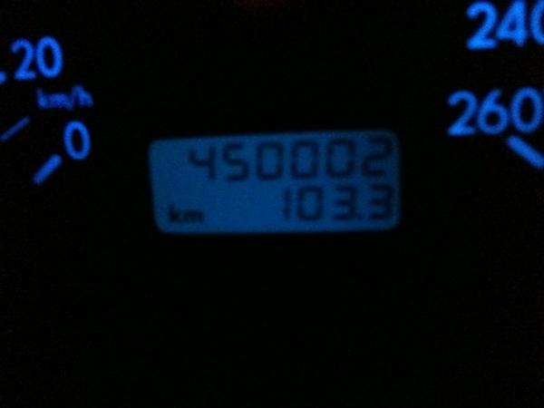 Respect voor mijn auto: 450K!!