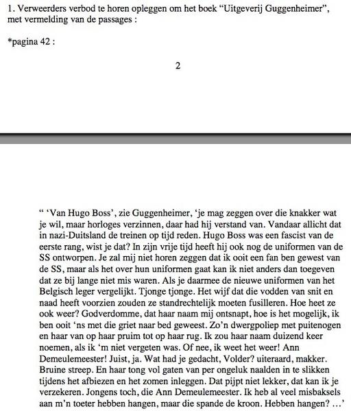 Herleest nog eens een fragment uit een Vlaams vonis uit december 2000