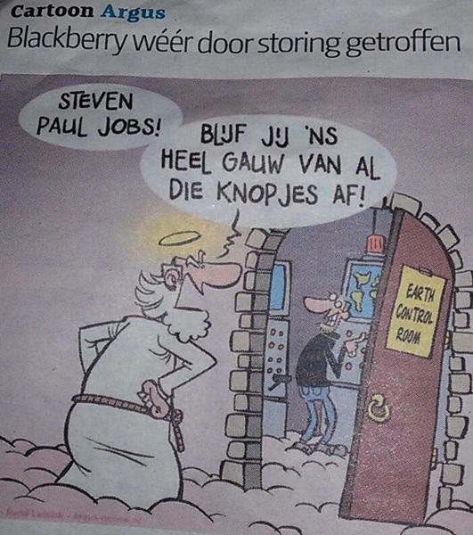 Steve Jobs achter blackberry storing?