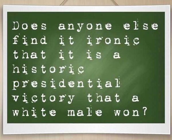 Congrats on the most amazing #presidential victory ... wait ... old white guy? Thats not amazing, thats normal !!!