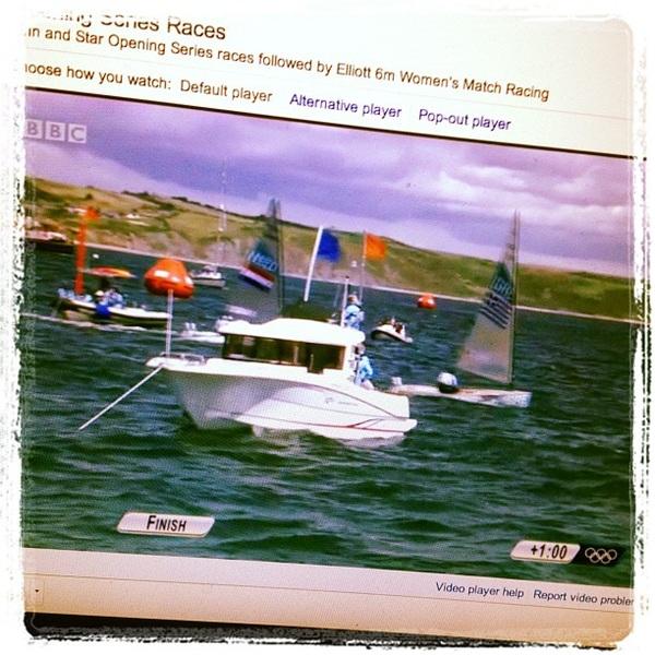 Close finish! @pieterjanpostma 5th place! #os2011 #weymouth2012