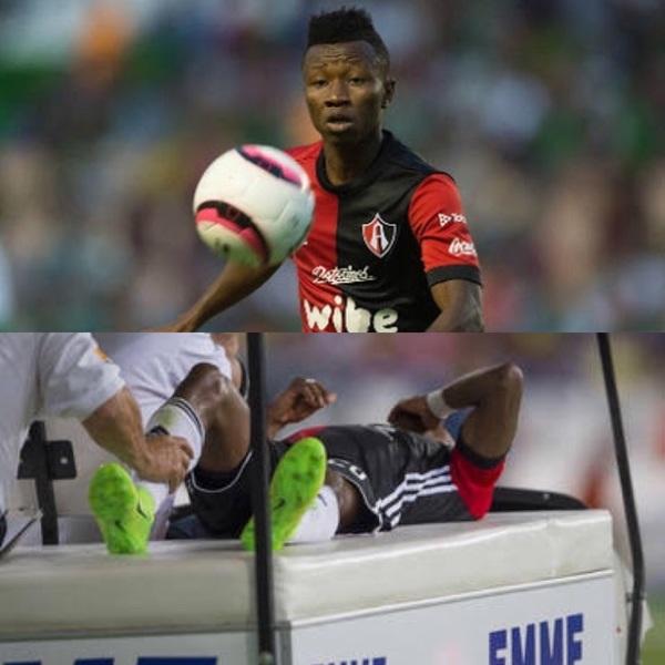 3 MESES FUERA!. Lesión de menisco para #Aboagye @atlasfc 🙈👊🏽💥 Tendrá que ser operado de la rodilla!...