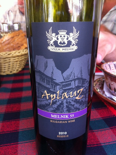 Aplauz, Villa Melnik, Melnik 55 A Reserve red  spicy, slightly sweet wine