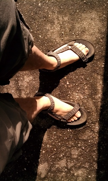 "Yes..it is march and after getting soaked making photos i am wearing shorts and ""mandals."" #togs #vt #photogs #btv"