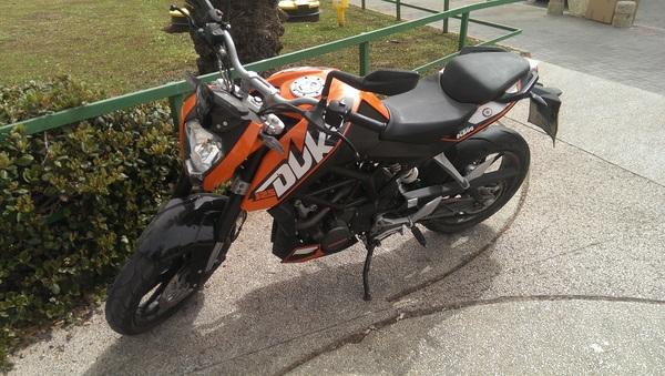 Ghe, toch nog een leuke motorfiets in Tel Aviv.