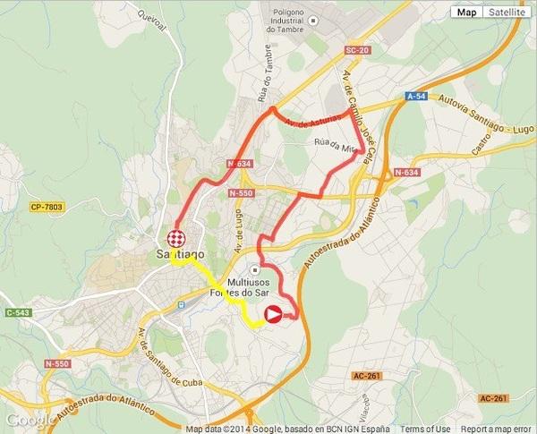 #LaVuelta - PREVIEW - @lavuelta stage 21 (TT): Santiago de Compostela › Santiago de Compostela (9.7k)