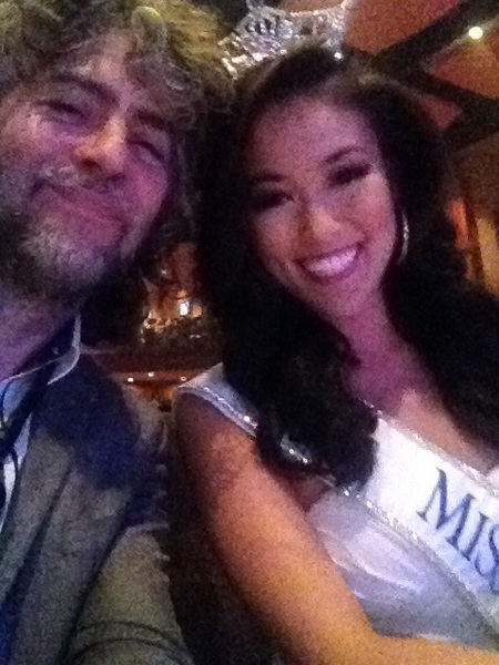 Sitting with Miss Oklahoma judging the NEW Thunder Girls!!