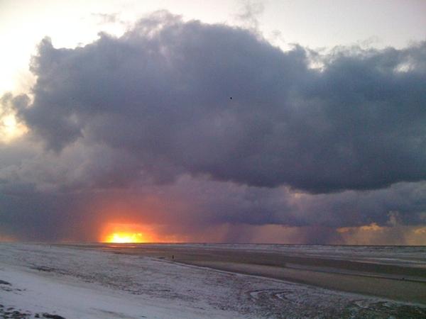 Incredible sunset @ Texel beach