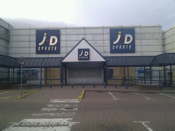 Very local Jd sports still boarded up from the ukriots. Heard they were going out of business following the riots?