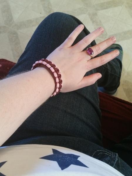 I wore the bracelet @BeardedBastard0 made me today too.