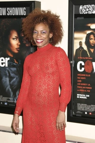 "Actress Aunjanue Ellis at the Premiere of ""Cover"" at the Village East Theater."