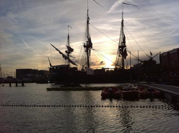 Sunset at sail