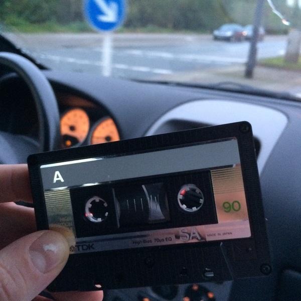 Going old skool here in Deutschland #tape  @Inn_Tweets