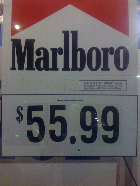 If u smoke; Shoot yourself in the face and the wallet!!!