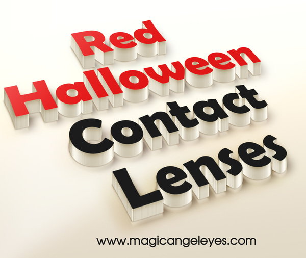 Colored contact lenses for halloween