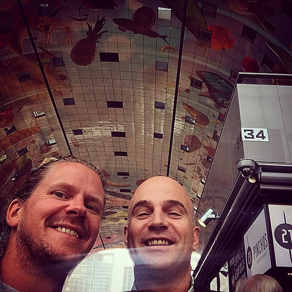 Taking the Germans on a tour  #Rotterdam #markthal