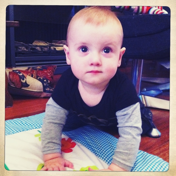 Fletcher of the day: 9 months old today.