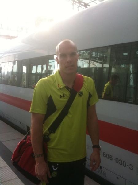 #BL einstimmung: Robert Enke just arriving Berlin ICE941 Freu mich auf #Hertha vs #Hannover96 btw netter typ