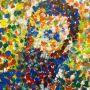 Portret Claude Monet door @Mieke_Siemons. #Schildercursus #kleur, les over #pointillisme.