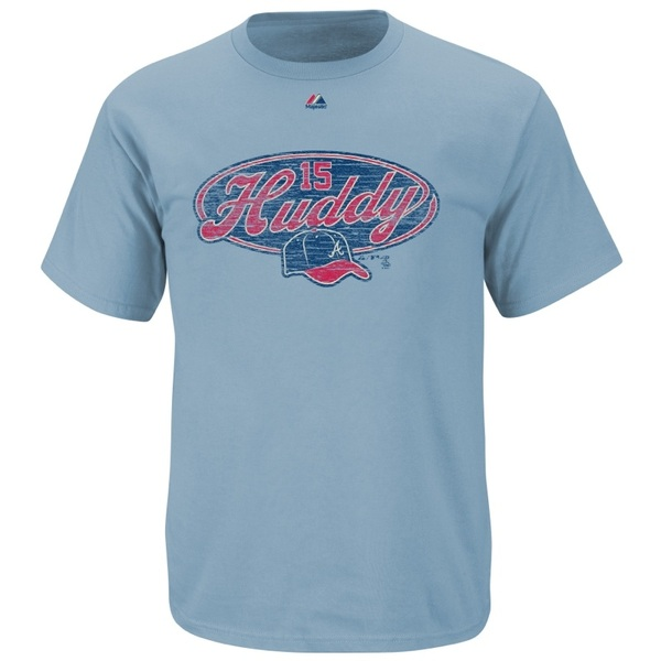Cool new Huddy T's available at Turner Field and CNN Ctr Clubhouse Stores. Portion of proceeds goes to @HudsonFamilyFdn