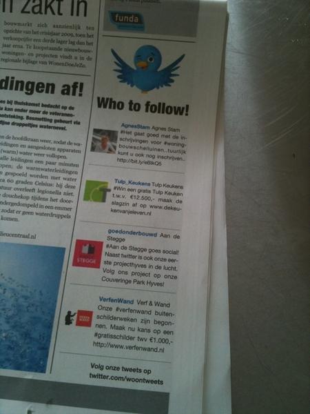"""Typisch voorbeeld van """"je snapt het niet"""" tweets afdrukken in een krant..."""