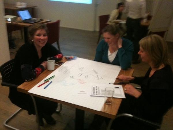 Flink aan het mindmappen bij #VMC met oa @marloesvdventer @anne1980mieke