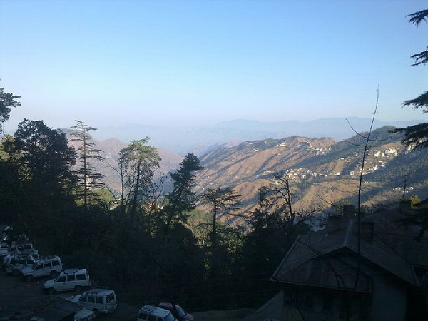 #shimla is an very beautiful town! Now I'm 7000feet above than normal sea level. #India #tour #rtwnow