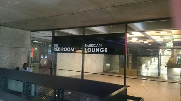Most of the Barbican is fifty shades of grey, but there is a Red Room here.
