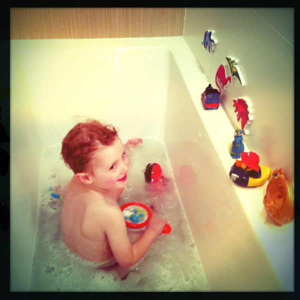 Fletcher of the day: Bathtime