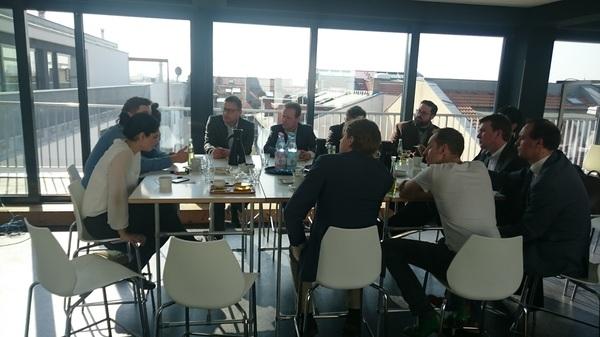 Opening meeting @factoryberlin met oa @joostvankeulen @clogish @launchcafe050 @markv