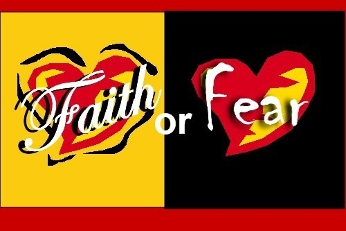 Fear and faith have the same definition: believing what you don't see is going to happen. I choose FAITH!!!