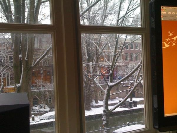Ook ochtendje thuiswerken, kon slechter met het uitzicht :)