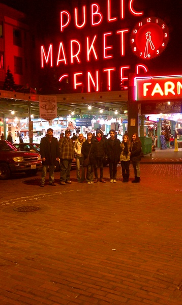 At Pike Place Market. Western International Band Clinic trip.