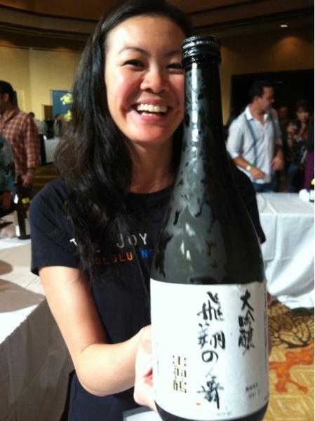 Dewatsuru hishinomai daiginjo akita seishu at the joy of sake sheraton #waikiki