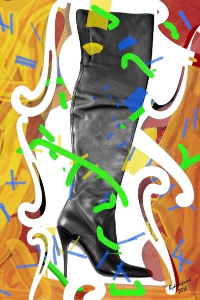 Grazy Modern Fast Photo Painting Highheel Art :-)