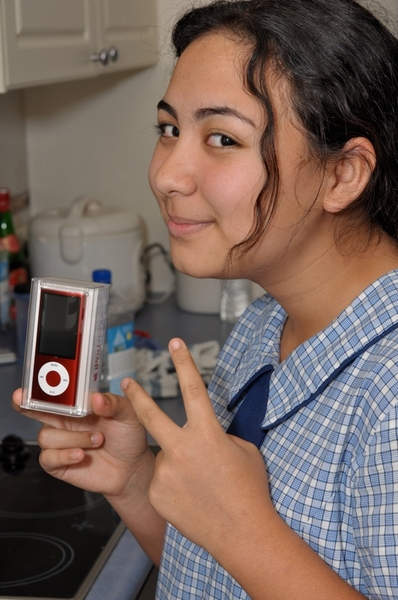my moosey moo finally got her (PRODUCT) RED iPod Nano today!