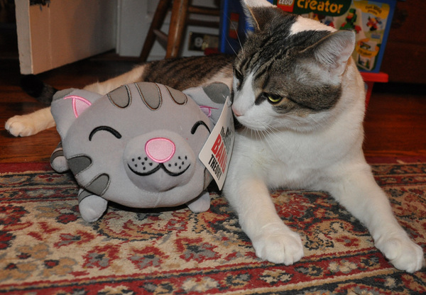 Human2 came home wif dis pawsum pwize fur #SCIFIpawty from r pals @1upCollectibles - FANKS U!