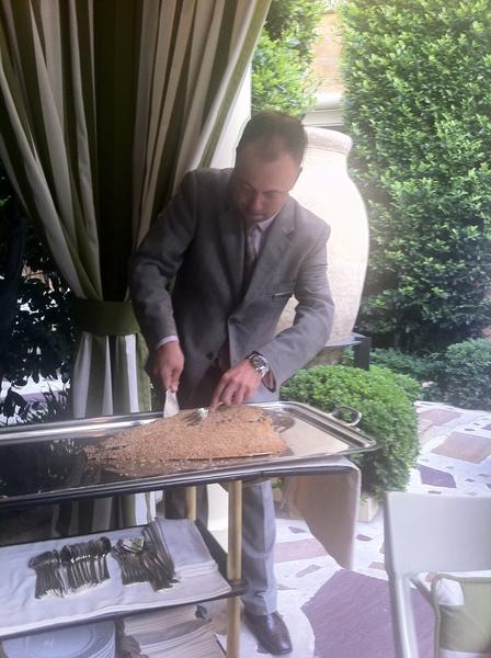 Bartolotta, Vegas: mgr serving SPECTACULAR, succulent branzino baked in herb-citrus salt