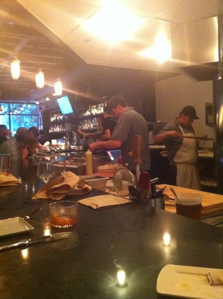 Had dinner at Top Chef Mike Isabella's new restaurant in DC. Graffiato. Nice environment, good food, prosecco on tap.