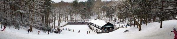 Skiën op echte Sneeuw bij ski club Il Primo in Bergen nh. #buienradar