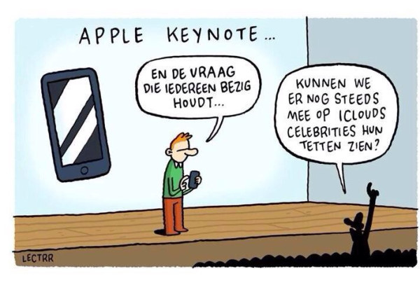 RT @lectrr: #apple #keynote #keynoteapple #iPhone6 #AppleWatch [ geniaal :') ]