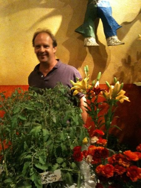 Frontera Farmer Foundation Market: Bill (Snug Haven) sold us 23,000# of local frozen tomatoes 4 sauces last winter