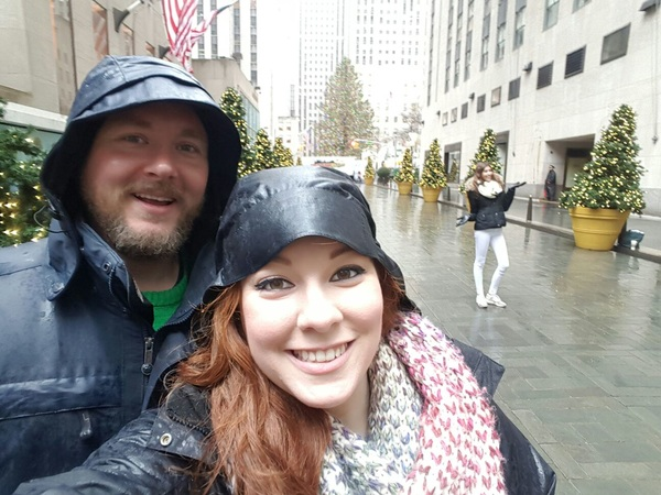 At Rockefeller Center with my sweetie