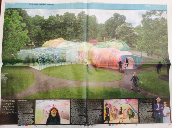 #ETFE made a timely appearance in today's @guardian - at TheSerpentine. @seanc_marketing @danparrtwenty3 @EdenProject