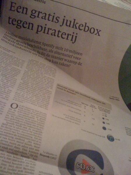 Mooi staatje bij stuk in NRC over piraterij en spotify.