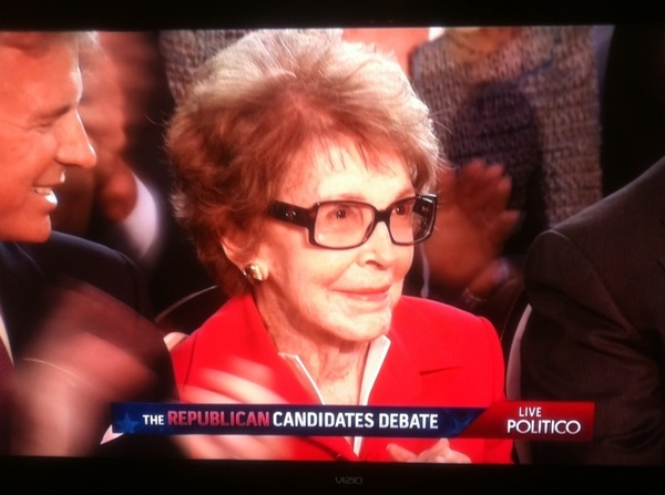NancyReagan still looks great!!!! #RepublicanDebate