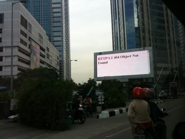 Bilboard At Jakarta stockexchange , object not found :)