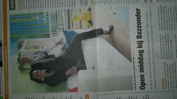 Nog 1x Anjerstraat 1 (@ebsdefontein) in de krant. 13-06: open dag Bzzzonder kinderopvang #Hoogeveen