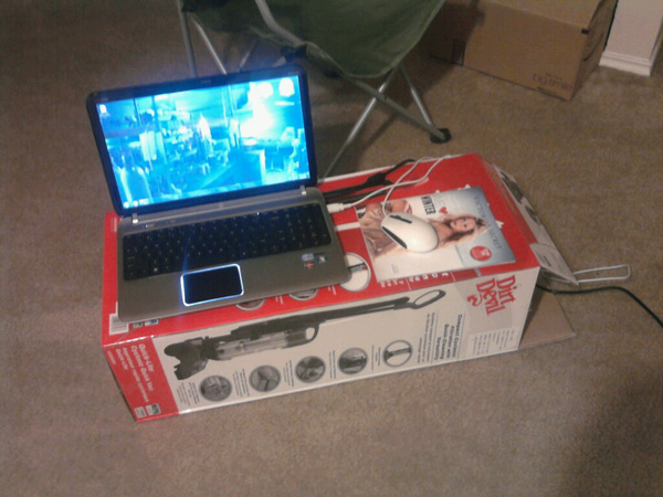 My Ghetto Makeshift Computer Desk When I Was Locked Out Of Room