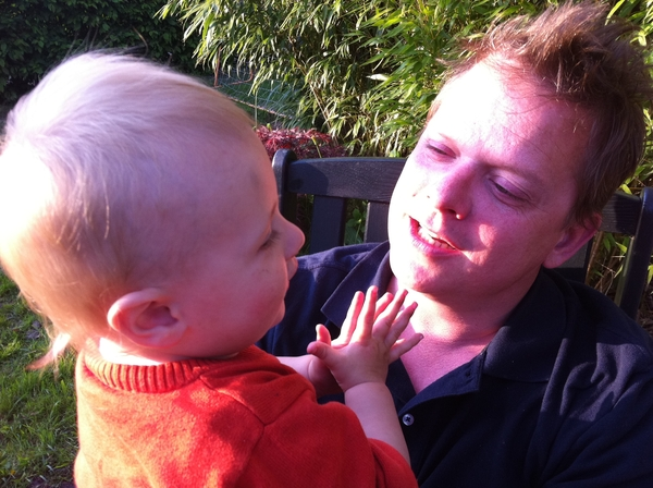 Fletcher of the day: singing with papa